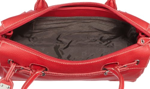 Picard San Marino 9727, Damen Shopper 35x26x12 cm (B x H x T) Rot/Rot
