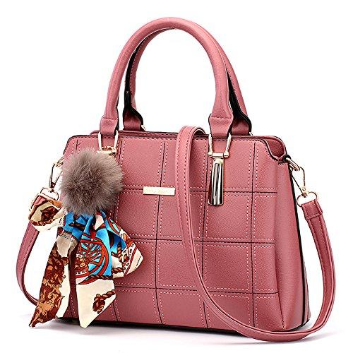 CengBao Ms. pacchetti coreano in autunno e inverno nuova donna pacchetto è semplice ed elegante borsa tracolla di tendenza un cross-killer pacchetto, m bianco Griglia di polvere di gomma