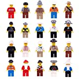BUWANT Mini Figures Set-20 Piece Minifigures Set of Professions, Building Bricks of Community People from Different Industries Complete, Building Blocks Kids Educational Toy Gift