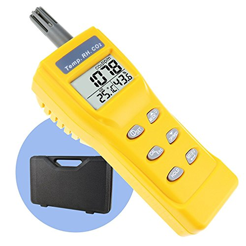 Portable Digital Temperatur Feuchtigkeit Indoor 9999ppm NDIR Sensor IAQ CO2 Monitor Wet Birne Temperatur (WB) Taupunkt (DP) Tester CO2 Monitor für Indoor Air Quality (IAQ) Diagnose