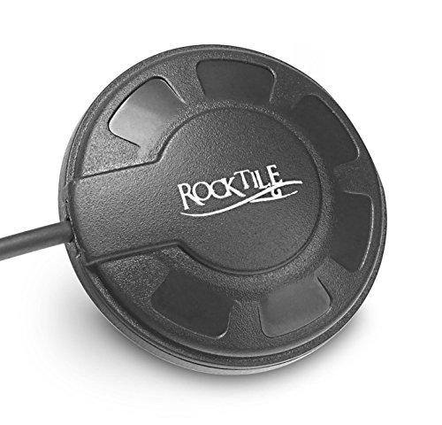 Rocktile AP-5 Allround Pickup (Tonabnehmer Western- und Konzert-Gitarren u. a. akustische Instrumente, Klettsystem, Kabel, Klinke) schwarz