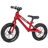 Laufräder Kinder gleichgewicht,Doppel-Rad Pedal Schiebe-LKW 1-3-6 Jahre alt-Rot 12inch