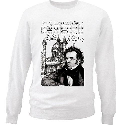 Teesquare1st Men's FRANZ SCHUBERT COMPOSER White Sweatshirt