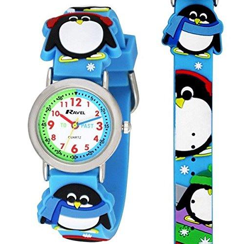 Ravel R1513.72 Orologio da bambino, motivo: pinguino
