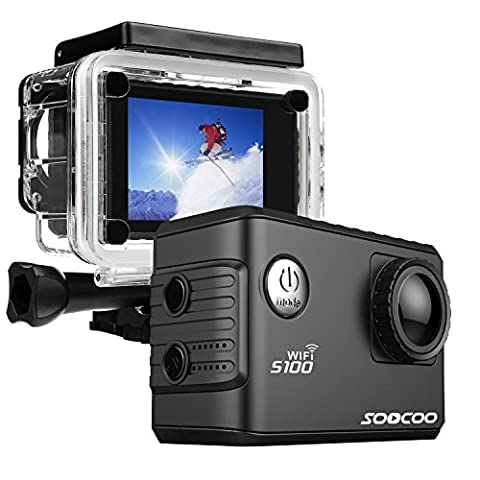 ONEU Action Camera, 20MP Full HD 1080P Fotocamera 4k Wifi GPS Function,30M Wasserdicht 170°Adjustable Angle Videocamera, 2 Inch Sport Action Camera für extreme Sportarten wie,Cycling ,Driving,Snowboard(schwarz)