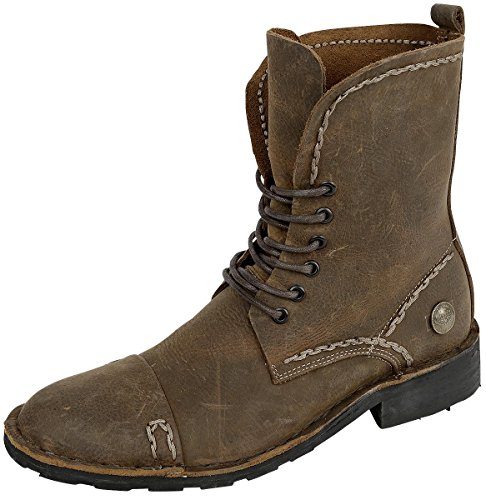 Rock Rebel by EMP Corded Leather Boot Anfibi/Stivali marrone EU44