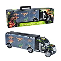 Toyvelt Dinosaurs Transport Car Carrier Truck Toy with Dinosaur Toys Inside - Best Megatoybrand dinosaur kids toy for ages 3 - 8 yr old