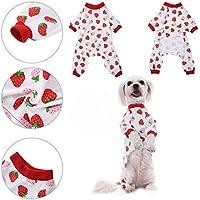 Ropa para perros Camisa para perros Pijamas de algodón de patrón de noche de dormir vestido de noche Pijama de gato para la ropa de Awhao M