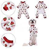 Ropa para perros Camisa para perros Pijamas de algodón de diseño de noche de algodón vestido de...