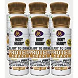 Zago Body Buddy Caramel Coffee 20gm Protein Shake (Pack of 6 Bottles, 20gm Protein, 330ml)