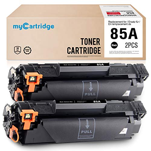MyCartridge kompatibel HP 85A CE285A Schwarz Tonerpatrone für HP Laserjet P1102W M1212NF MFP M1132 M1210 M1130 M1217NFW 2-Pack