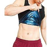 Semoic Sauna Vest voor heren Premium Workout Tank Top Polymeer voor Afslanken Gewichtsverlies Fitness