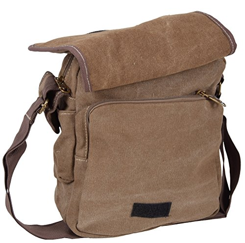 iwea Borsa Messenger Beige cachi 26x22x12 cm marrone