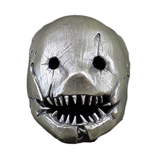 59874 Clip Metzger Maske Cos Dawn Killer König Halloween Horror Dress Up Anime Spiel Requisiten,Silver-OneSize