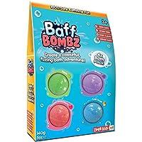 Baff Bombz, Green, Purple, Blue & Red, 4 Bath Pack, Create a fizzing bath time adventure! Children's Bath Bombs