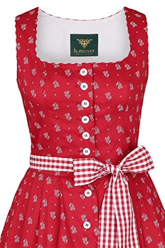 Damen h.moser Salzburg Trachten Trägerkleid rot, 2727 rot, 2727 rot