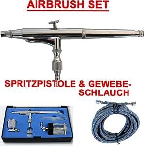 airbrush pistole f r airbrush kompressor set double action 134d 0 3 d se und nadel fliesbecher. Black Bedroom Furniture Sets. Home Design Ideas