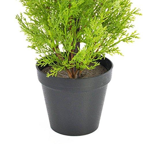 artplants – Künstliche Zypresse Spring im Dekotopf, 75 cm – wetterfest – Künstlicher Zeder/Künstliche Konifere