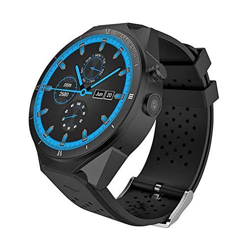 Chansted 3G Reloj con teléfono Inteligente KW88 Pro Android 7.0 Pantalla táctil 1G + 16GB 2MP Pulsera Deportiva para cámara (Negro)