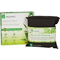 Activated Charcoal Home Odor Eliminator Bag By Sagano - Utilizes Powerful and Natural Activated Charcoal to Keep Your Home Fresh and Healthy - Car Air Freshener and Pet Odor Remover - 200 Gram Bag (1)