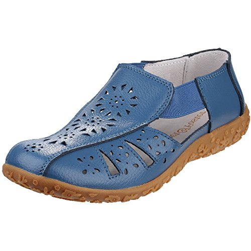 Fleet And Foster Womens/Ladies Grigio Slip On Summer Shoes Blue