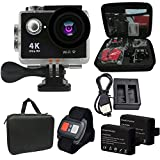 Besty Original 4K WiFi Wasserdichte Actioncam mit Doppelladegerät Action Kamera 12MP 2 Zoll Full HD...