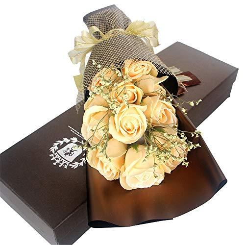 Liuzecai Künstliche Blumen Rosen Künstliche Rose Flower Geburtstagsgeschenk für Frau Freundin Valentines Day Gift (Farbe : 11 Tulips)