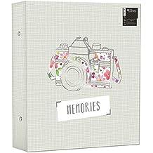 """Gran carpeta de anillas álbum de fotos 500fotos recuerdos diseño capacidad para 500fotos de 6x 4"""""""