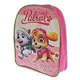 Paw Patrol Mädchen-Rucksack, der Everest und Skye kennzeichnet (Einheitsgröße) (Pink)