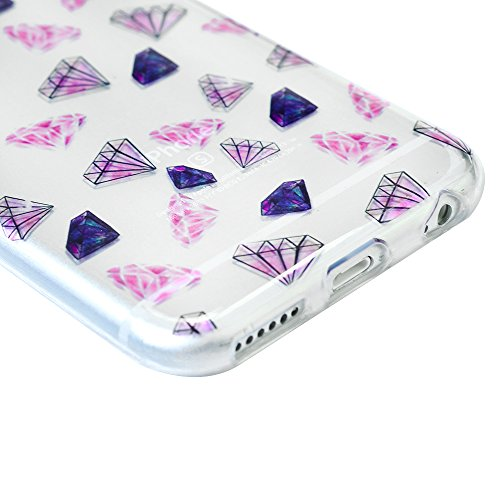 iPhone 6 Plus Hülle Case, iPhone 6S Plus 5,5 Zoll Schutzhülle YOKIRIN TPU Silikon Tasche Handyhülle Handytasche Schale Slim Fit Gemalt Etui Backcover Rückseite Protective Shell Muster:Diamant Farbe 6
