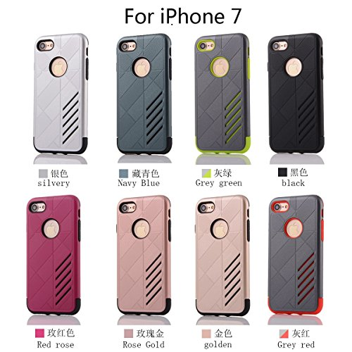 """HYAIT® For IPHONE 7 4.7"""" [CONTRAST]Case Dual Layer Hybrid Armor Rugged Plastic Hard Shell Flexible TPU Bumper Protective Cover-XJAE02 BHE02"""