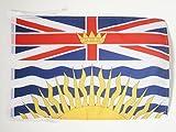 FLAGGE BRITISH COLUMBIA 45x30cm mit kordel - BRITISCH-KOLUMBIEN FAHNE 30 x 45 cm - flaggen AZ FLAG Top Qualität
