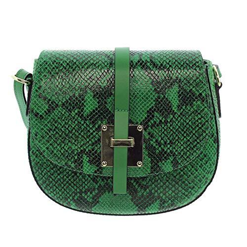8aa629902f329 IO.IO.MIO echt Leder Schultertasche Handtasche Damen Umhängetasche Saddle  Bag Fashion Ledertasche Schlangen