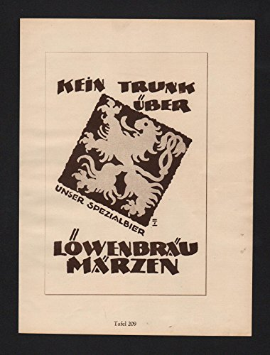 ludwig-hohlwein-reklame-werbung-plakat-lowenbrau-goldsiegel-hutte-crefeld