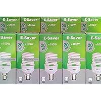 Pack di 3/5/6/10, e-saver 20W = 100W, luce bianca calda,
