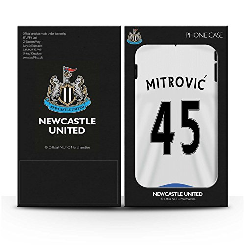 Offiziell Newcastle United FC Hülle / Matte Harten Stoßfest Case für Apple iPhone 4/4S / Pack 29pcs Muster / NUFC Trikot Home 15/16 Kollektion Mitrovic