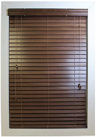Calyx Interiors Real Wood Venetian Blind, 31 by 60-Inch, Pecan