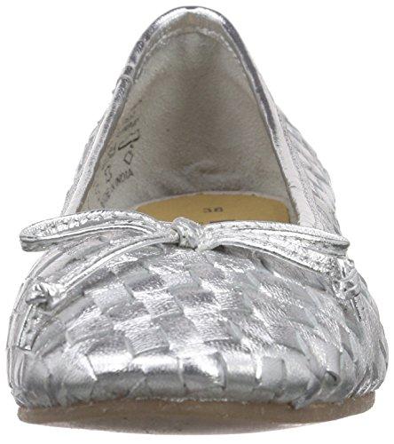 Unbekannt 221 921, Ballerines fermées femme Argent - Silber (Silver LD 919)