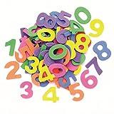 GLOREX Moosgummi-Zahlen, Mehreres, Mehrfarbig, 16 x 11.5 x 3 cm