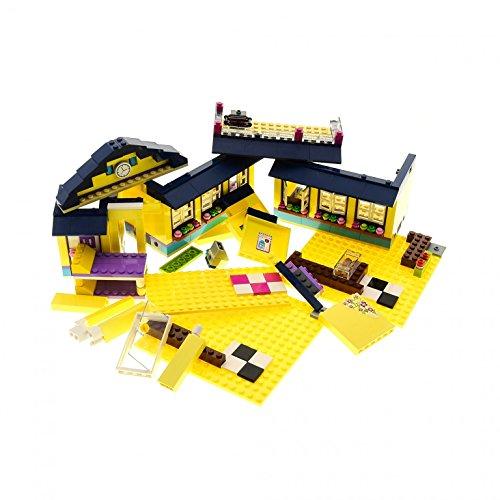 Preisvergleich Produktbild 1 x Lego System Teile Set Modell für Haus Gebäude Teil für Friends 41085 41006 41035 41005 hell gelb dunkel blau unvollständig
