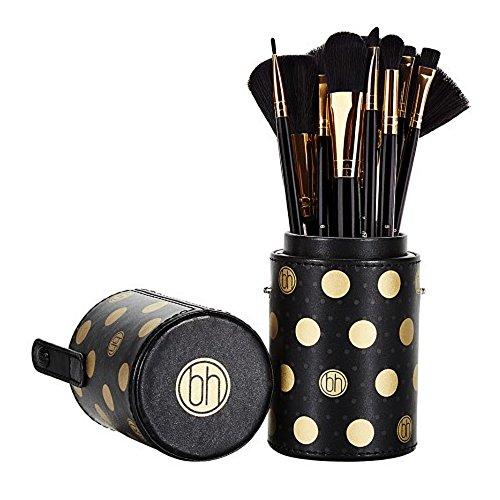 Dot Collection - 11-teiliges Pinselset Schwarz von BH Cosmetics
