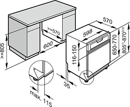 Miele G6200 Sci D ED230 2,0 clst Geschirrspüler Teilintegriert - 5