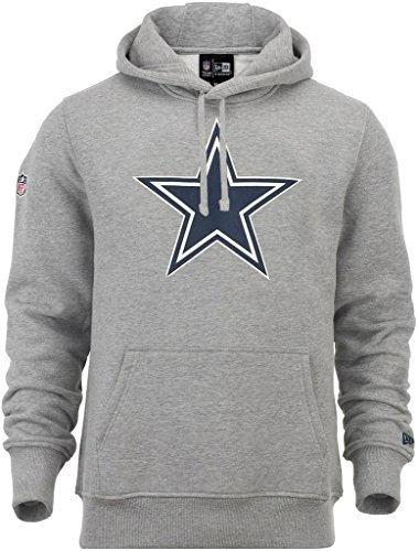 "New Era ""NFL Team Logo Dallas Cowboys"" Hoodie - heather grey, Grau, XXXL"