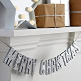 Christmas Metallics - Merry Christmas Wooden Glitter Bunting