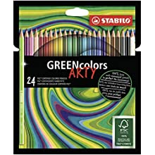 STABILO Colouring Pencil - STABILO Greencolors Wallet of 24 Assorted Colours,6019/24-1-20