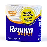 #8: Renova Super Toilet Paper 4 Rolls (2 Ply) , Super Resistente , First Time In INDIA.