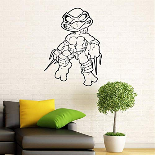 hzcl Ninja Turtles Wall Decal TMNT Vinyl Sticker American Comic Book Home Home Children Room Home Decor Wall Sticker (Turtle Ninja Room Decor)