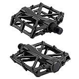 MultiWare Mountain MTB BMX Bike Bicycle Bearing Alloy Flat-Platform Pedals 9/16 inch Black