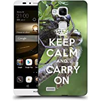 Super Galaxy Coque de Protection TPU Silicone Case pour // Q01013403 keep calm and carry on 620 // Huawei Ascend Mate 7