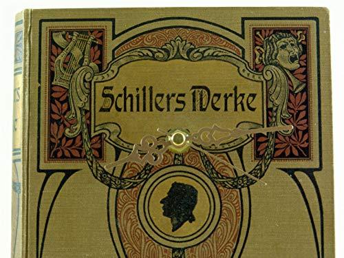 Upcycling Jugendstil Bücher-Wanduhr Schiller art nouveau silent clock